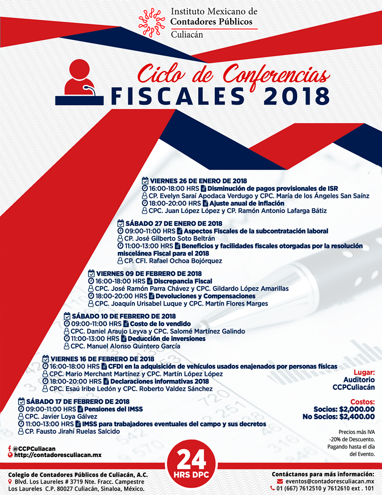 Ciclo de Conferencias 2018v2